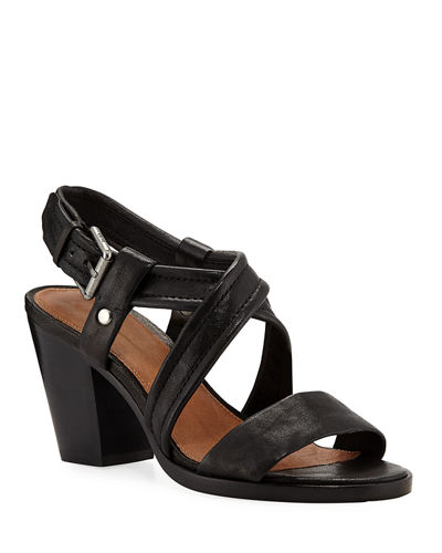 Dani Grained Leather Sandals