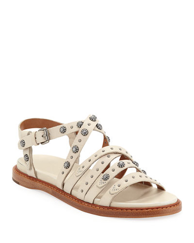 Andora Studded Leather Sandals