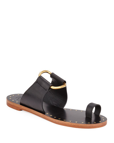 Ravello Studded Leather Ring Sandals