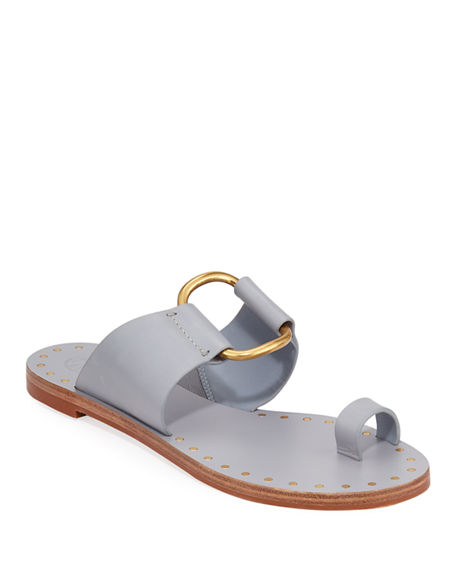 Tory Burch Sandals RAVELLO STUDDED LEATHER RING SANDALS