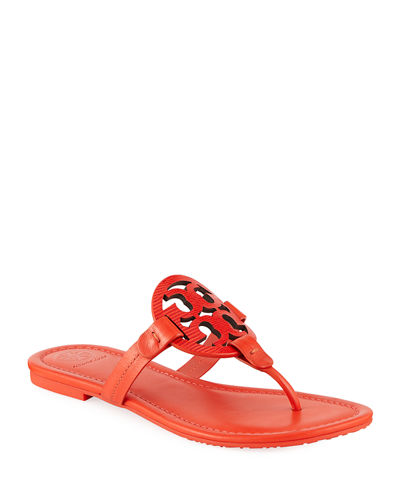 Miller Logo Flat Leather Sandals