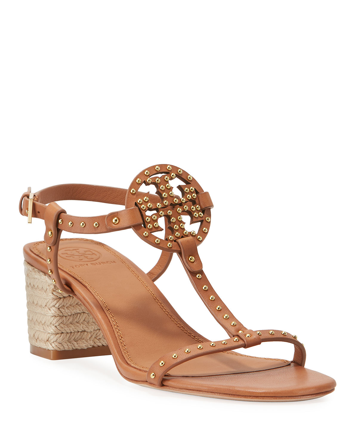 969f8c85f Tory Burch Miller Studded T-Strap Espadrille Sandals