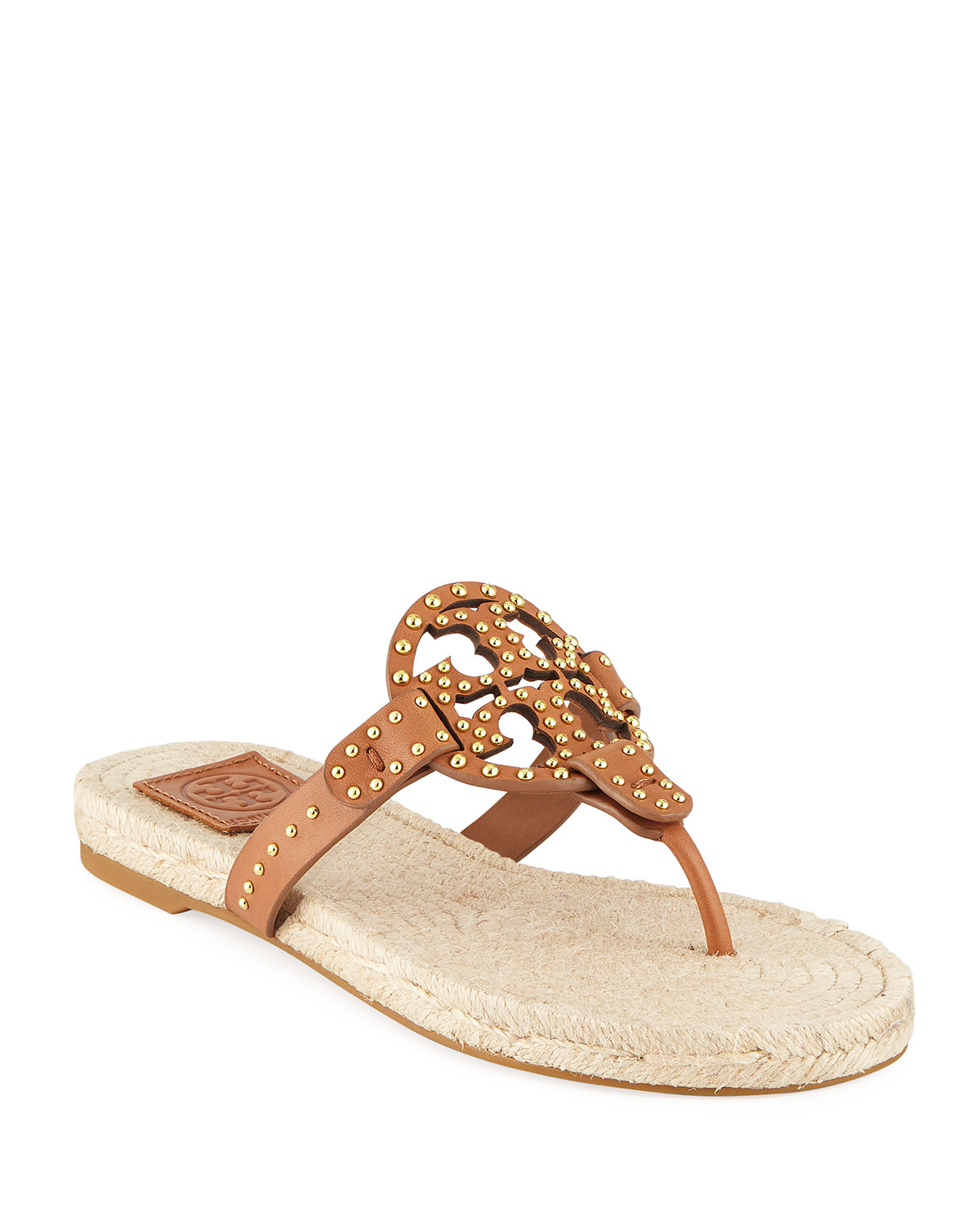 55a565525f414 Tory Burch Miller Studded Leather Espadrille Sandals