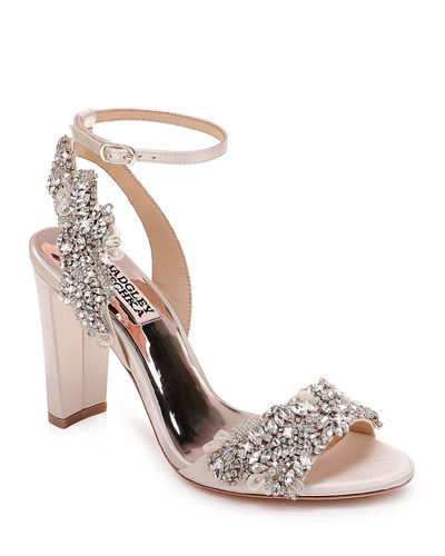 Libby Embellished Ankle-Wrap Sandals