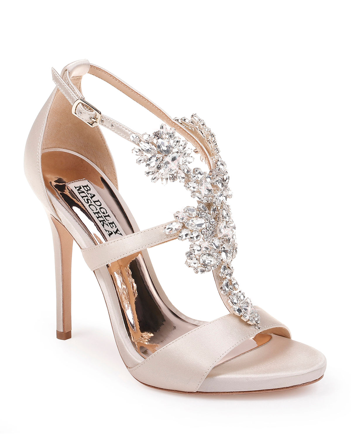Leah Embellished T-Strap Sandals