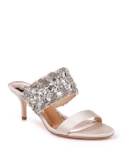 Linda Crystal and Jeweled Sandals