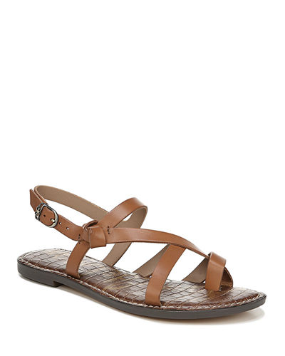Gladis Strappy Leather Flat Sandals