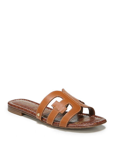 Bay Leather Cutout Slide Sandals
