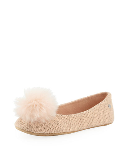 Andi Shearling Pouf Slippers
