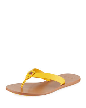 b61496e08 Tory Burch Manon Leather Thong Sandals