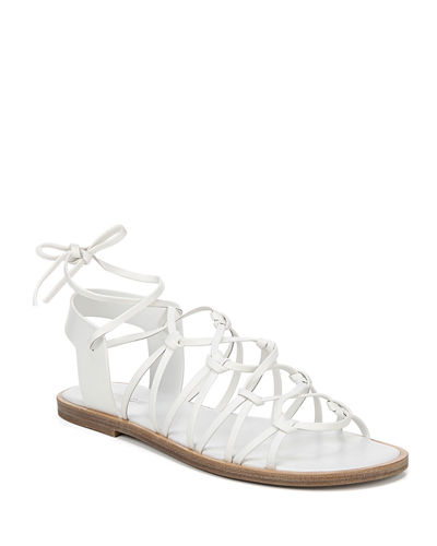 Palmera Flat Leather Gladiator Sandals