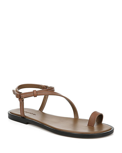 Perrigan Leather Flat Sandals