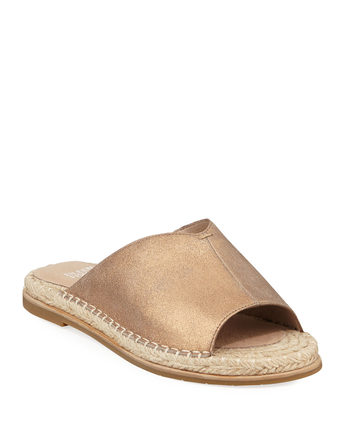 Milly Metallic Leather Espadrille Sandals