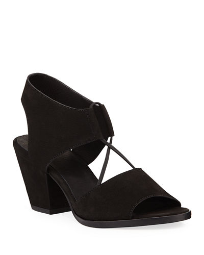 Doe Low-Heel Nubuck Sandals