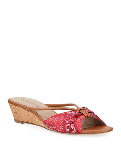 Andra Wishbone Wedge Sandals