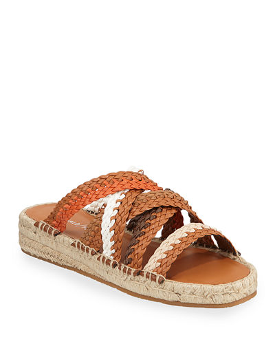 Rhonda Woven Leather Espadrille Sandals