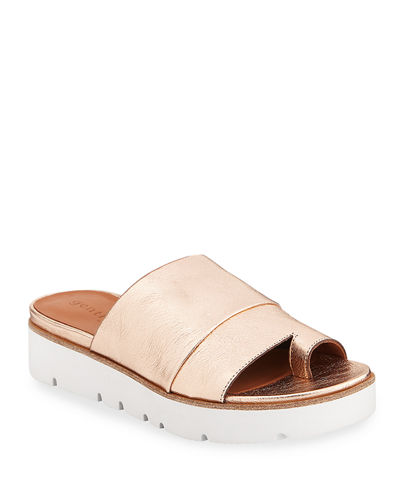 Lavern Easy Metallic Slide Sandals