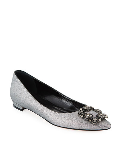 Hangisi Metallic Fabric Buckle Flat