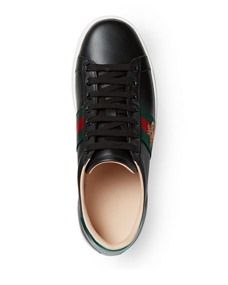 Image 3 of 4: Gucci New Ace Platform Bee Sneakers