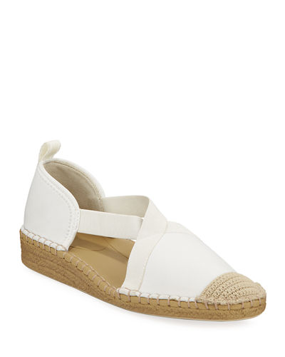 Taryn Rose Quin Neoprene Demi-Wedge Espadrilles