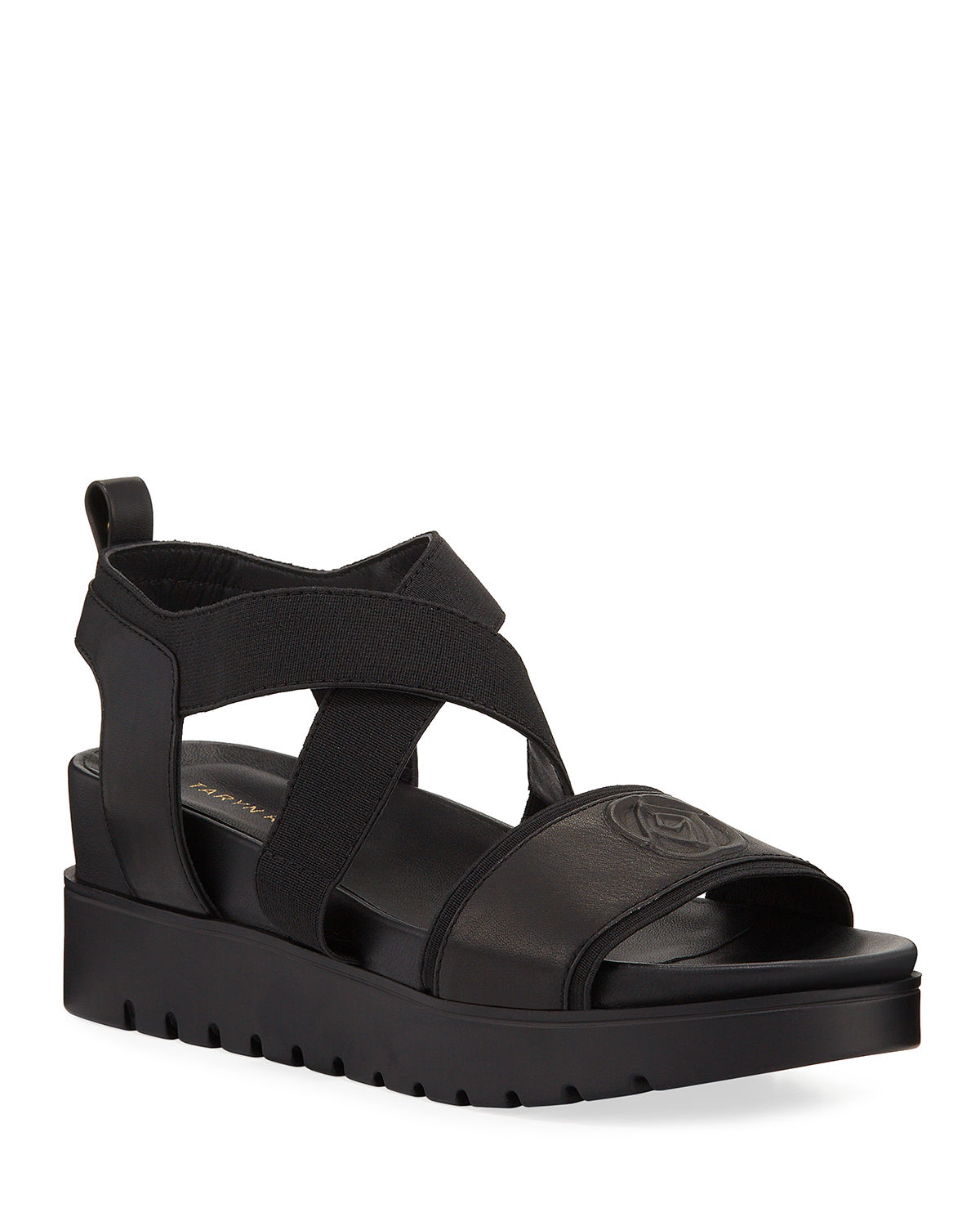 Stephanie Leather Wedge Comfort Sandals by Taryn Rose