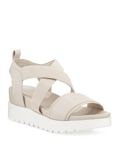 Stephanie Leather Wedge Comfort Sandals