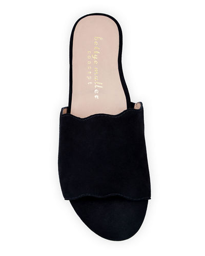Bettye Muller Concept Seema Suede Demi-Wedge Slide Sandals