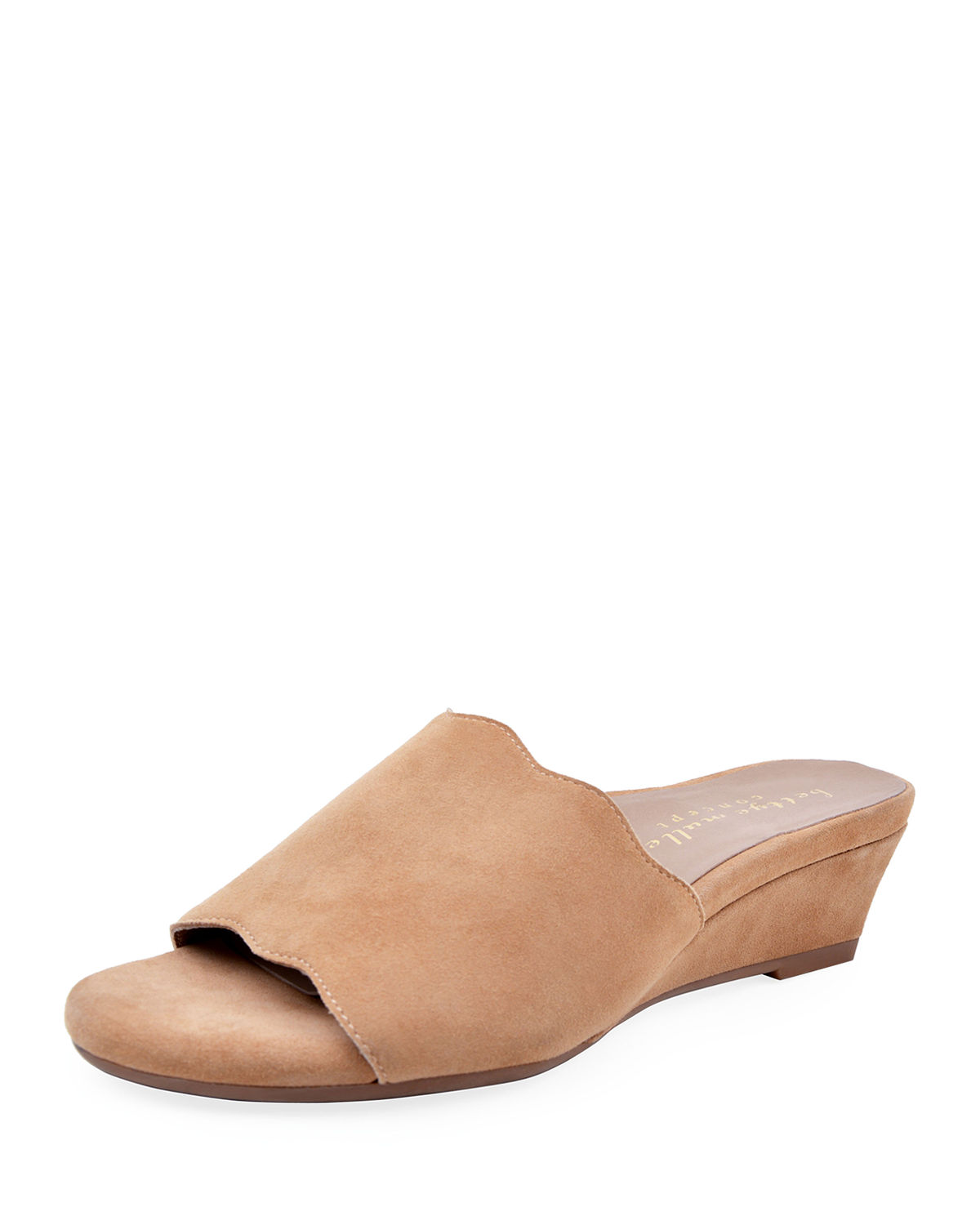 Seema Suede Demi-Wedge Slide Sandals