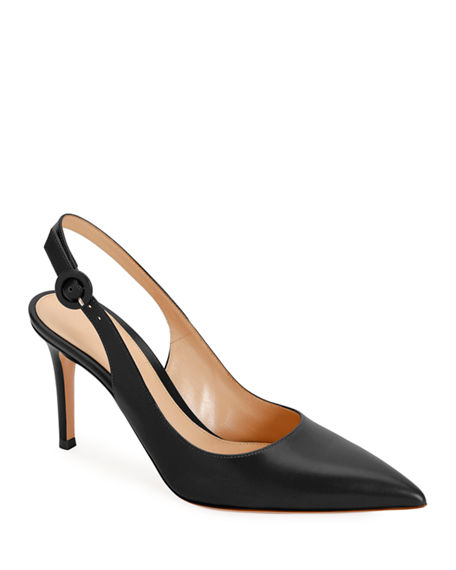 Gianvito Rossi Smooth Leather Slingback Pumps