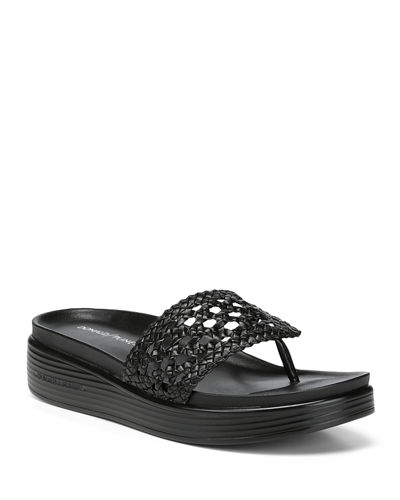 Fifi Easy Woven Leather Slide Sandals