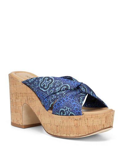 Beeya Platform Cork Slide Sandals