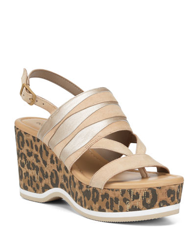 Valri Leopard-Wedge Platform Sandals
