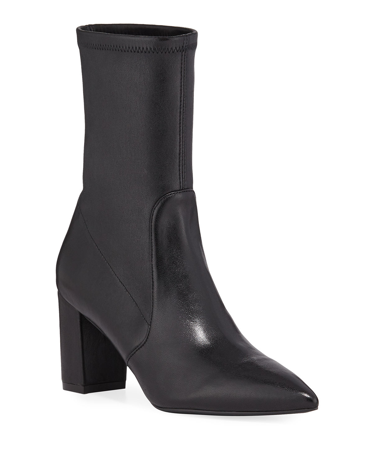 Landry 75 Stretch Leather Sock Booties