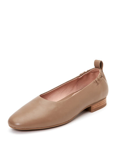 Bess Leather Ballet Flats with Contoured Arch Support