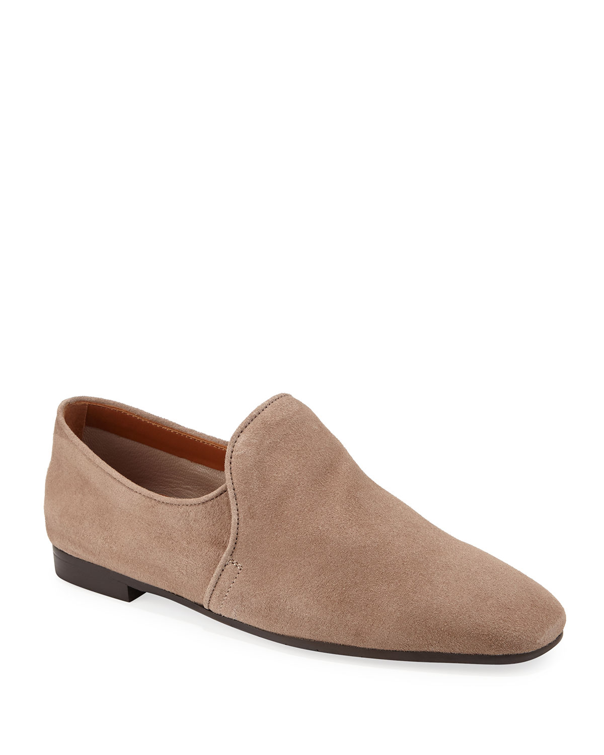Revy Flat Calf Suede Loafers
