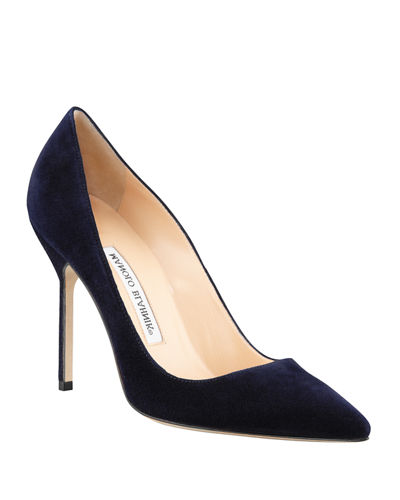 BB 105mm Suede Pumps (Tora Heel)