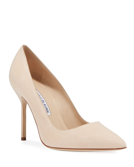 Manolo Blahnik BB 105mm Suede Pumps (Tora Heel)