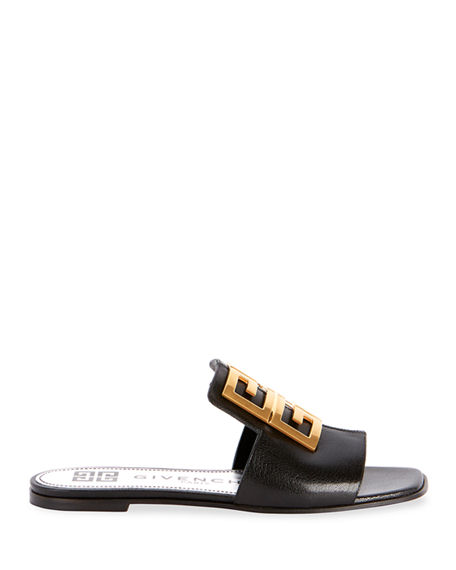 Image 2 of 4: Givenchy 4G Flat Slide Mules