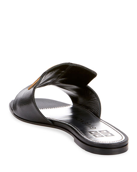 Image 3 of 4: Givenchy 4G Flat Slide Mules