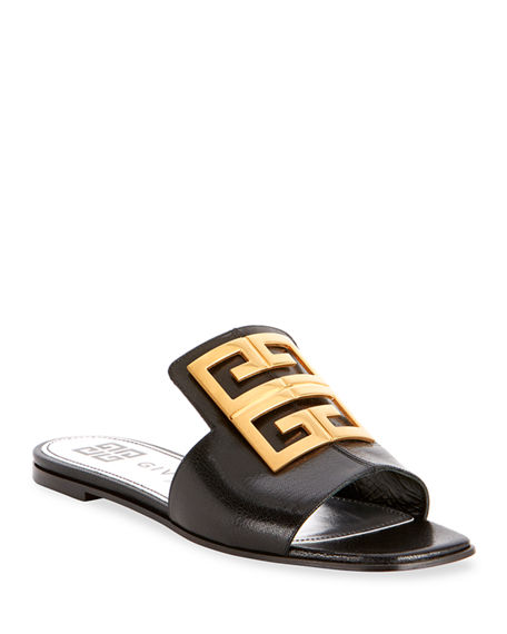 Image 1 of 4: Givenchy 4G Flat Slide Mules