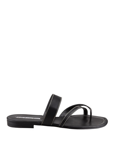 3082a9b92f29 Quick Look. Manolo Blahnik · Susa Flat Leather Sandals