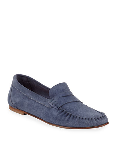 Lesley Suede Penny Loafers