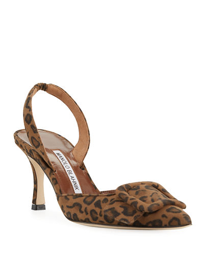 May Slingback Suede Pumps
