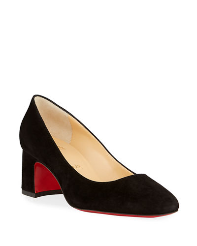 Donna Stud Suede Red Sole Pumps