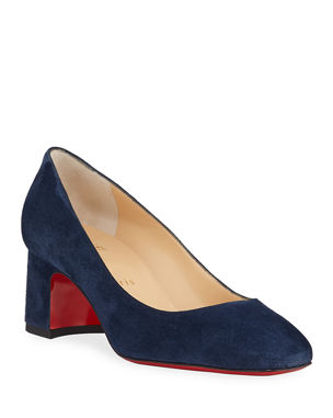 b8fdca77a64f Christian Louboutin Donna Stud Suede Red Sole Pumps