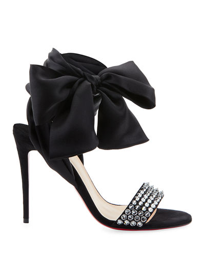 Christian Louboutin Krystal Spike Red Sole Sandals