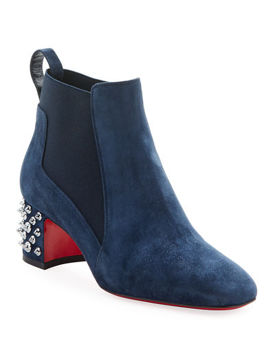 Study Suede Red Sole Booties