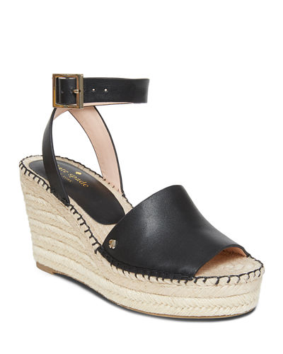 felipa leather wedge espadrilles