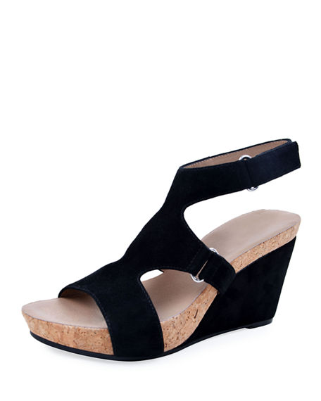 Bettye Muller Concept Tobias Suede Wedge Sandals