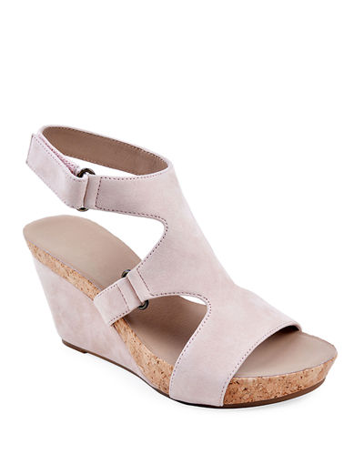 Tobias Suede Wedge Sandals